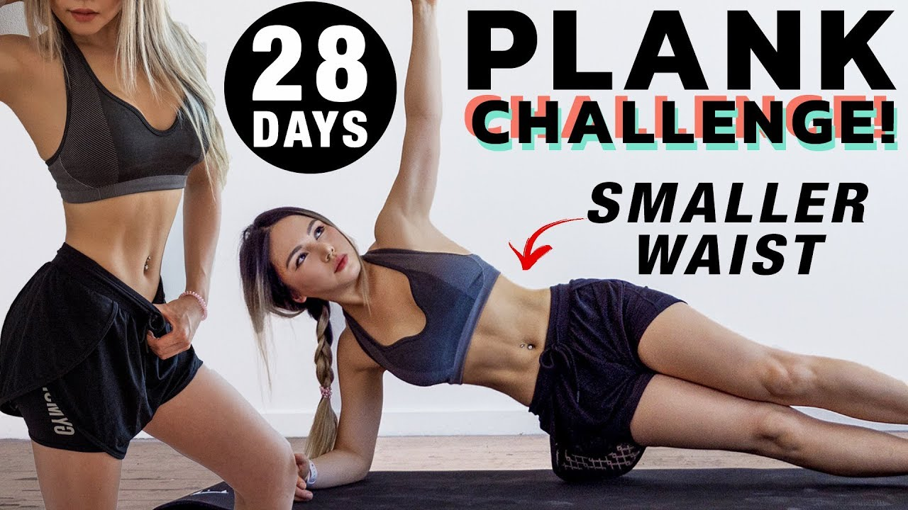 Get a Smaller Waist in 28 DAYS | Plank Workout Challenge