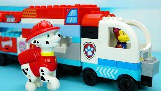 汪汪隊立大功積木玩具 拼裝積木救援大卡車