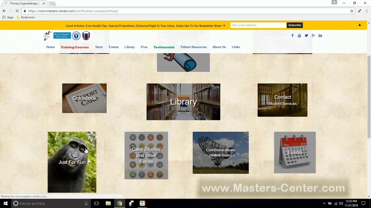 Experience Your Virtual Campus Masters Center Hypnotherapy