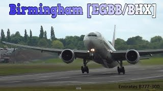 30 mins of arriving and departing aircraft on RWY33 at Birmingham Airport