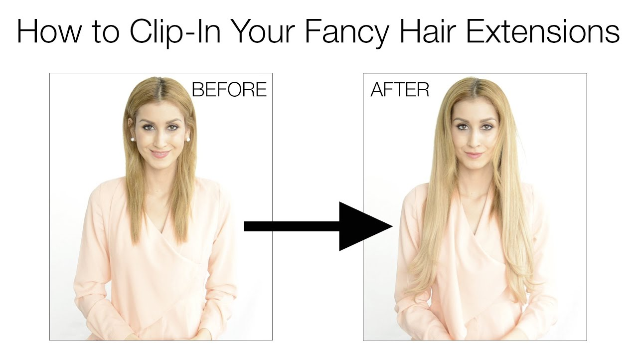 How to Clip-In Fancy Hair Extensions - YouTube