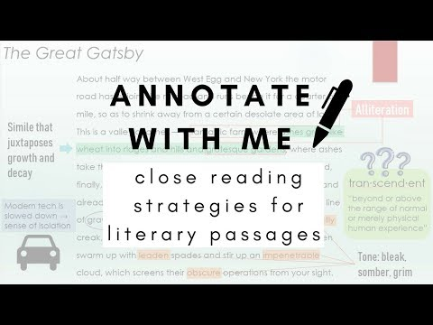 Annotate With Me (Close Reading Strategies for Literary Passages)