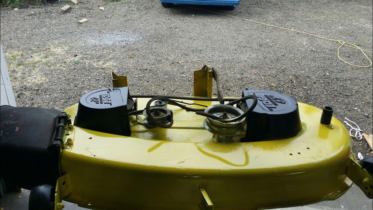 My John Deere la105 needs some deck repairs  Let's get to it