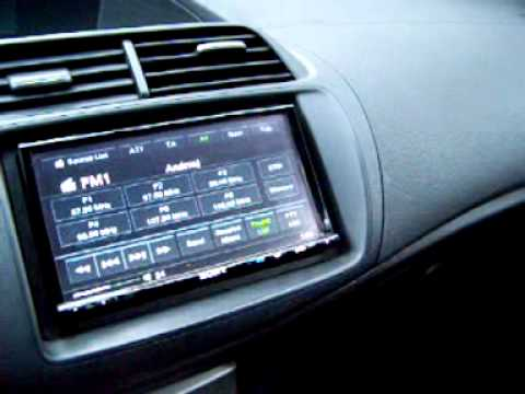 Honda Civic Viii Gen Ufo Car Audio Radio 2din Youtube