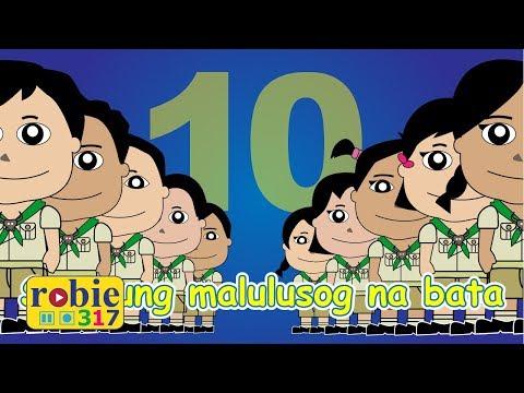 Sampung Malulusog Na Bata Animated | Awiting Pambata | Tagalog Nursery Rhymes