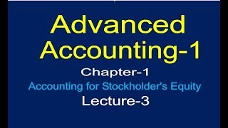 Accounting for Stockholder