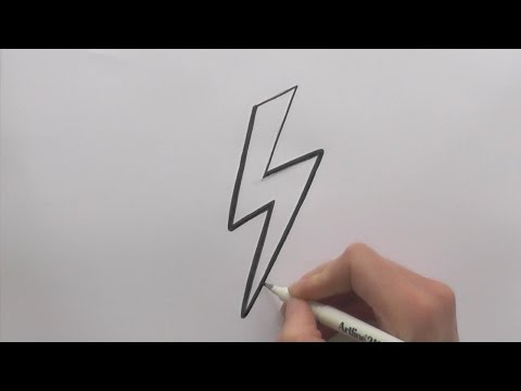 How To Draw Cartoon Lightning Bolt