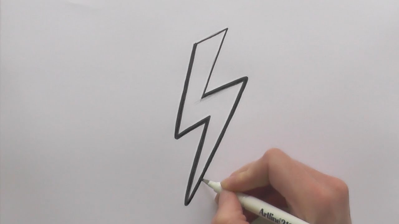 Uncategorized Lightning Drawing how to draw a lightning bolt youtube