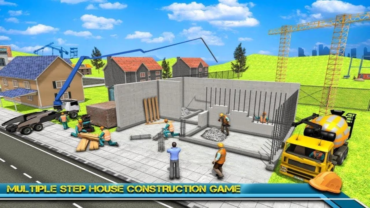 Modern Home Design House Construction Games 3d Android Gameplay