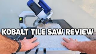 kobalt 10 tile saw by lowe s review