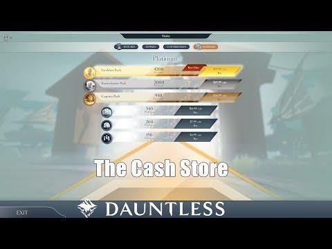 Dauntless Lets Look Through the Premium Store - Cash Shop