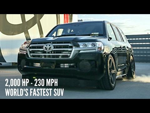 Toyota Land Speed Cruiser 2 000 Hp 230 Mph Record Run