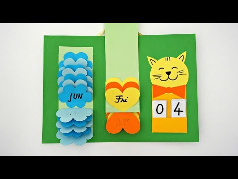 Waterfall Calendar   How To Make A Calendar   DIY Wall Calendar   Easy Paper Crafts
