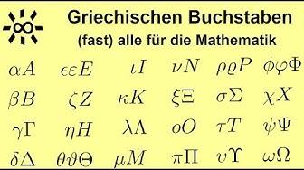 Griechische Buchstaben im Schnellkurs