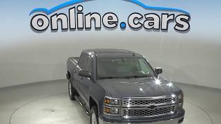 A10081YT Used 2014 Chevrolet Silverado 1500 LT 4WD Crew Cab Blue Test Drive, Review, For Sale