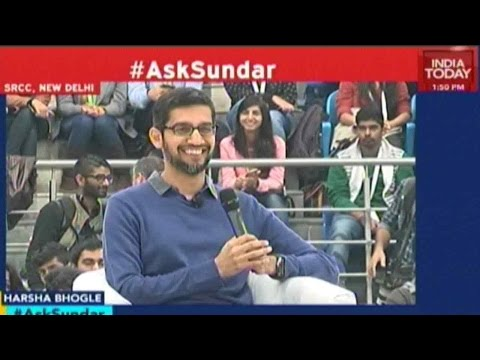 Google CEO Sundar Pichai's Interactive Session At SRCC, Delh