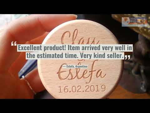 Customised Wooden Wedding Ring Holder