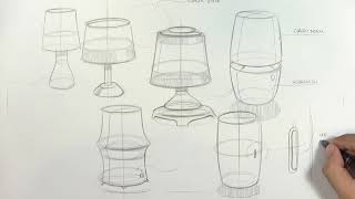 Lamp | Industrial & Product Design Sketch