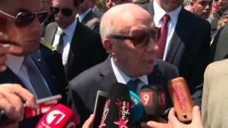 تصريح رئيس الجمهورية   لوسائل الاعلام في الذكرى ال 17 لرحيل الزعيم بورقيبة   بالمنستير