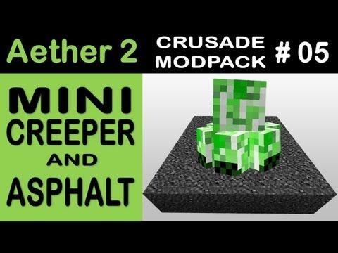 Mini Creeper e Asfalto ~ Minecraft Aether 2 Crusade Mod Pack #05 ~ PT/BR (Grimoire of Gaia 2)