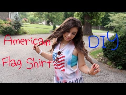DIY American Flag Shirt