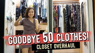 How to Declutter and Organize your Closet // Closet Makeover // Organization Hacks // by Elle Uy