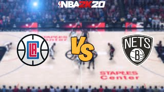 NBA 2K20 - Los Angeles Clippers vs. Brooklyn Nets - Full Gameplay