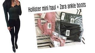 [패션하울] 홀리스터 옷, 브라렛, 자라 앵클부츠 샀어…