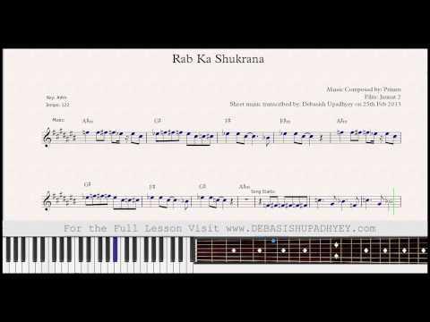 Rab Ka Shukrana Sheet Music
