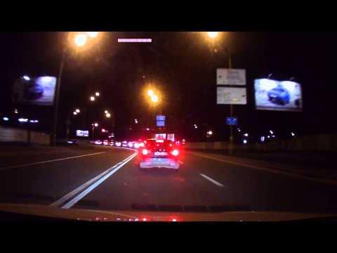 Видеорегистратор Gazer H521 ночная сьемка