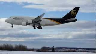 Boeing 747 UPS landing Anchorage Ted Stevens International Airport, Anchorage, Alaska