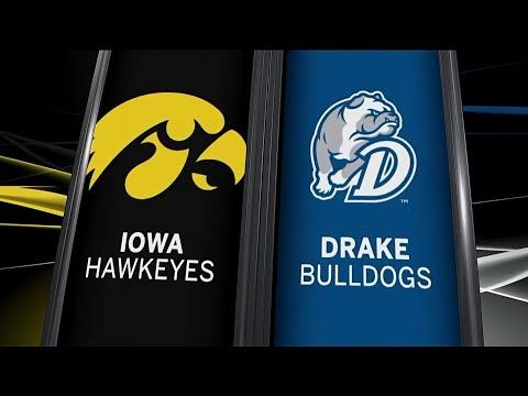 Drake vs. Iowa - Men's Basketball Highlights