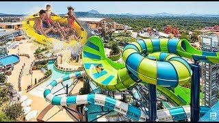 Fantastic water slide / LoveStar have fun playing wolrd resort water park