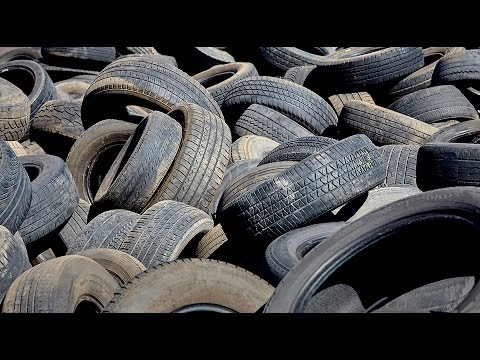 Reducing tire waste by using completely degradable, syntheti