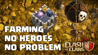 TH10 3 star farming without heroes ! Farming strategy with lavaloon lavaloonion | Clash of clans