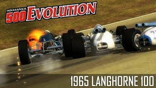 A Pack Race -- 1965 Langhorne 100 -- Indianapolis 500 Evolution