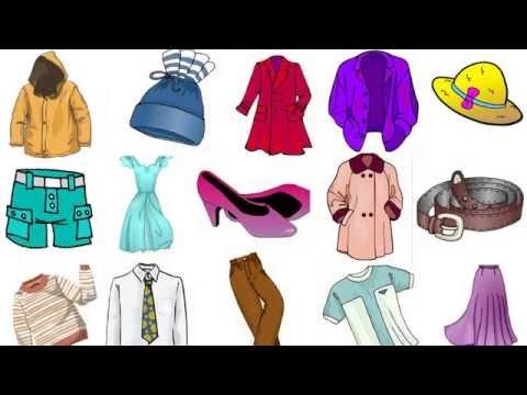 Изучаем слова. Одежда. Обучающее видео для детей. For Children