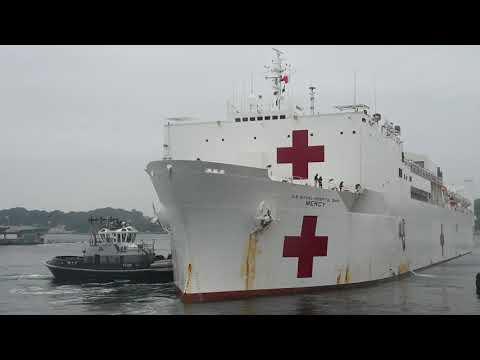 DFN:USNS Mercy Arrives in Yokosuka, Japan (B-Roll1), YOKOSUKA, JAPAN, 06.10.2018