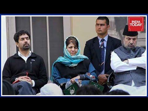 PDP Leader, Tasaduq Mufti Press Conference Over Violence At Srinagar By Polls