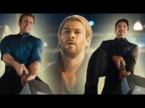 Avengers Attempt To Lift Thors Hammer In New Age of Ultron Clip