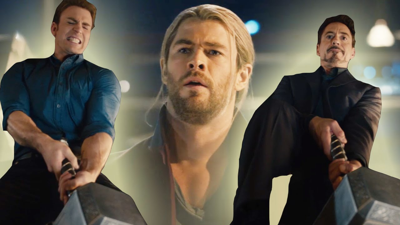 avengers attempt to lift thor s hammer in new age of ultron clip