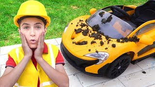 Kids Clean the Power Wheels Toy Cars | Super Day