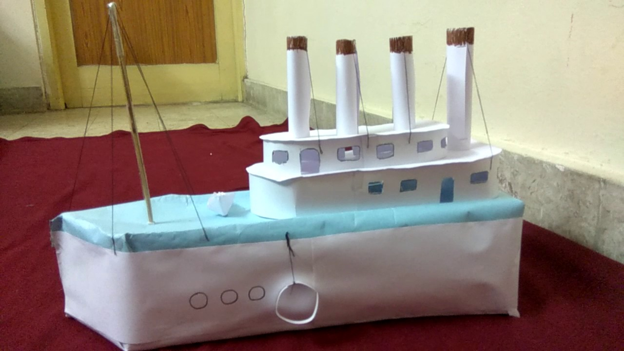 titanic ship model with chart and cardboard youtube
