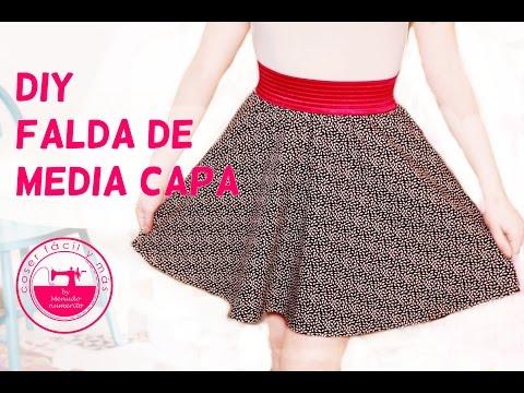 Cómo hacer una falda de media capa semicircular