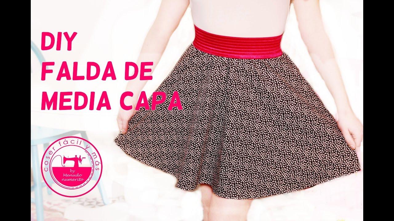 3d504f8d6 Cómo hacer una falda de media capa semicircular