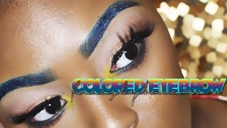 How To: Colored Eyebrows Tutorial ( The Perfect Eyebrow)