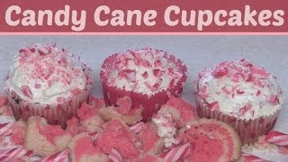 Candy Cane Cupcakes How To - Holiday Diy