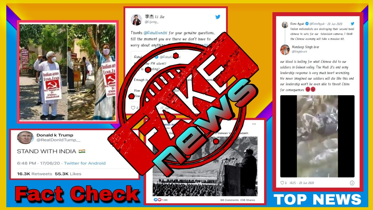 🆕Top 5 Fake News in India-China Conflict !! || Top 5 Anti-National Type Fake News !