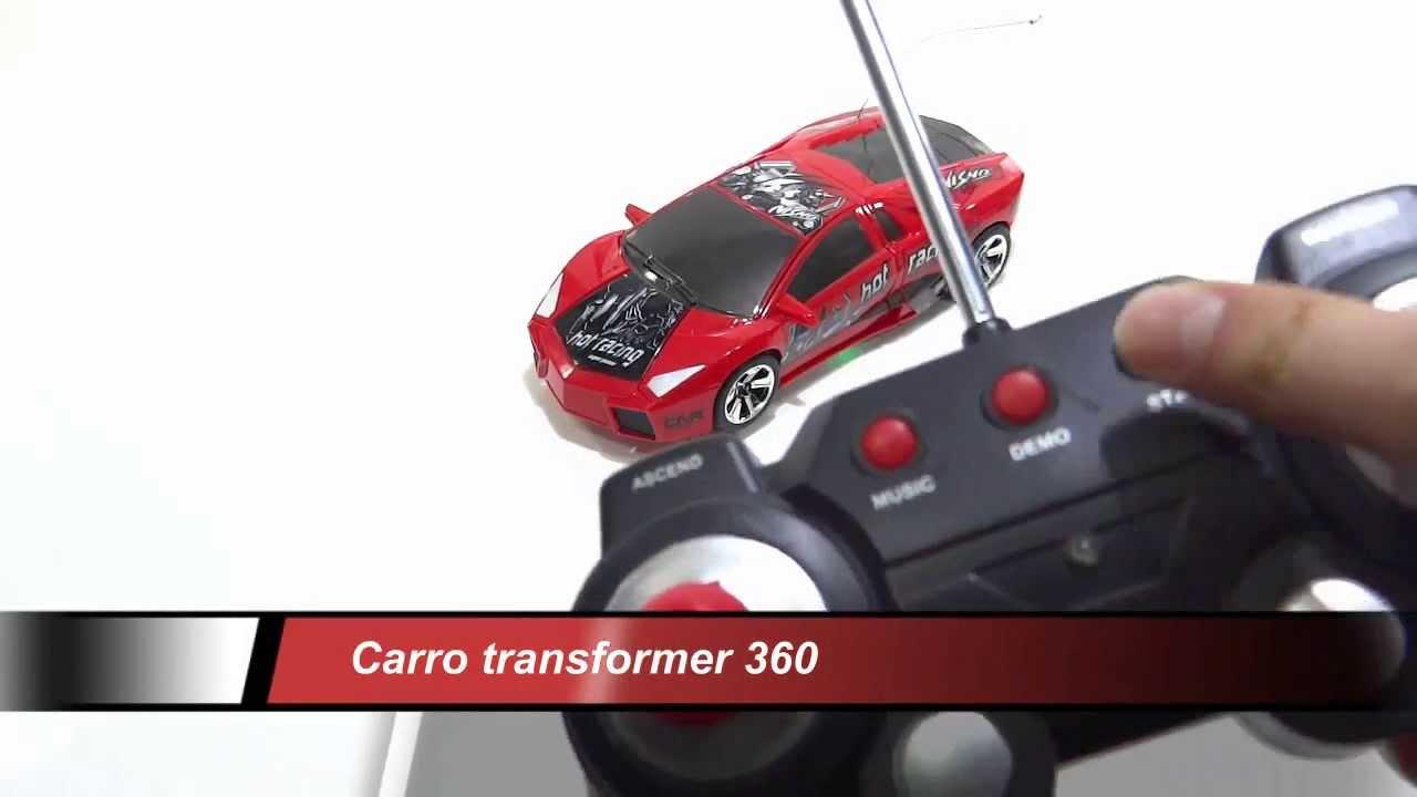 Carro Transformer Giros 360 Control Remoto Bateria Recargable Musica
