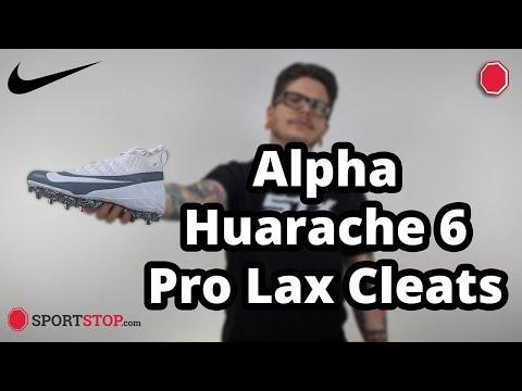 b0d98f3a2 Nike Alpha Huarache 6 Pro Lacrosse Cleats Product Video - YouTube